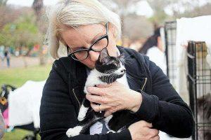 """יונית גבע יו""""ר העמותה לחתולי רעננה צילום: ליאת מאיר"""