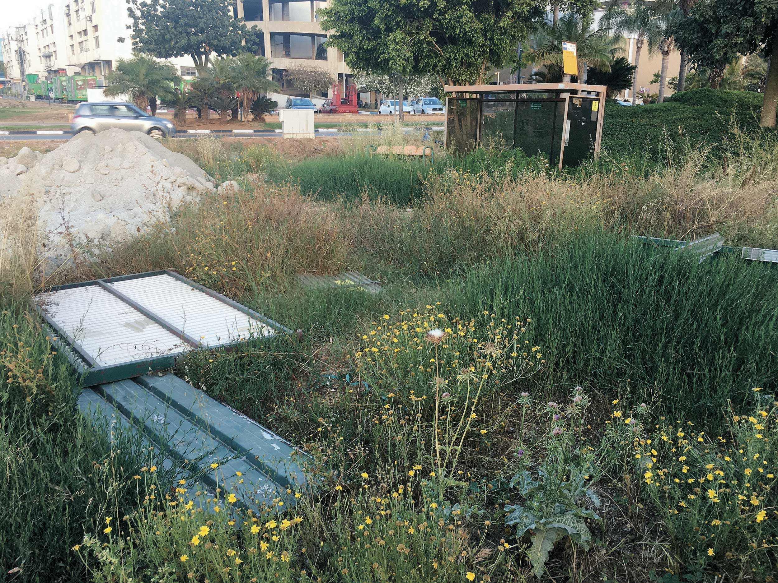 גרוטאות מול ביתו של יהודה זיידי בשכונת רסקו