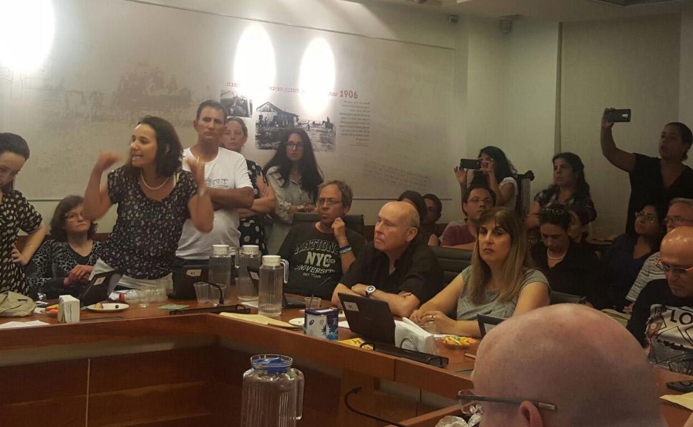 ישיבת המועצה. צילום יעל יפה
