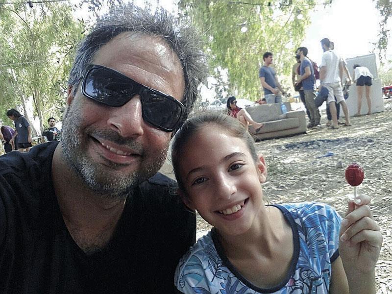 אמיר גבריאל.ובתו שירה צילום: באדיבות אמיר גבריאל
