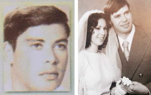 "מימין: עדי ובעלה אלישע ביום חתונתם, אלישע פלג ז""ל"