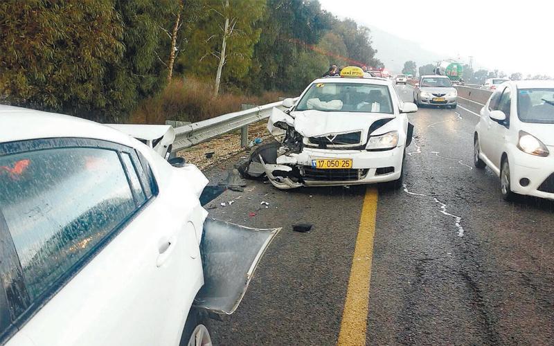 תאונה ליד הזורע כביש 66. צילום דוברות מגידו