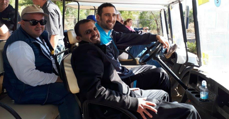קבוצת המתנדבים במהלך הטיול. התמונה באדיבות עיריית רעננה