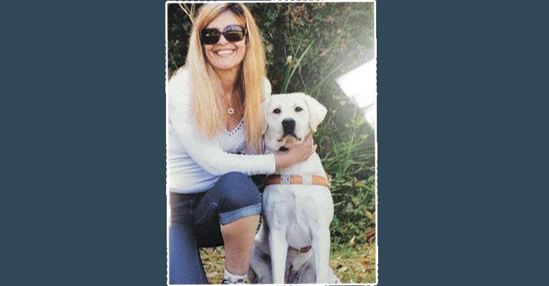 סיגלית והכלבה שלה. צילום פרטי