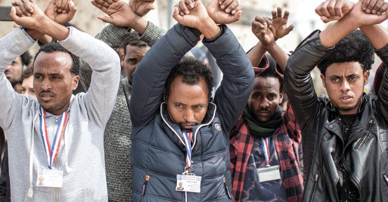 פליטים. צילום אמיל סלמן