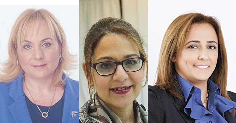 מימין: רחלי בן ארי סקעת, סימה פרי, רונית וינטראוב. צילום פרטי