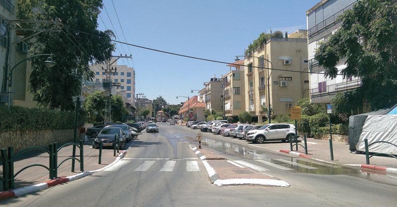 רחוב בר אילן צילום עזרא לוי
