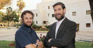 משמאל מיכאל וולף ויוסף סאלאמה צילום עזרא לוי