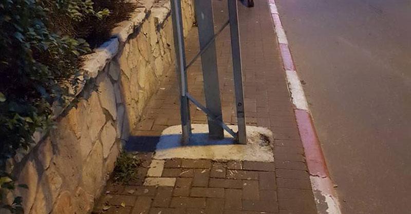 המדרכה ברחוב גולומב