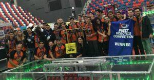 קבוצת הרובוטיקה באליפות העולם.