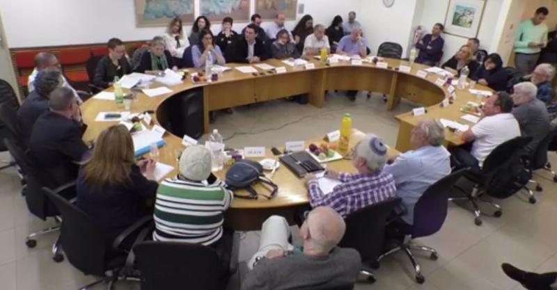 ישיבת המועצה בשידור חי בפייסבוק של עיריית רעננה