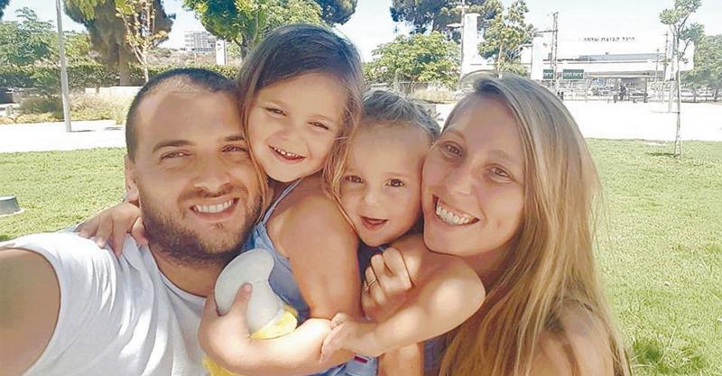 ליאור ברנע עם משפחתה. צילום פרטי