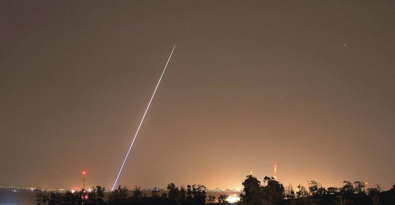 שיגור מעזה צילום אילן אסייג