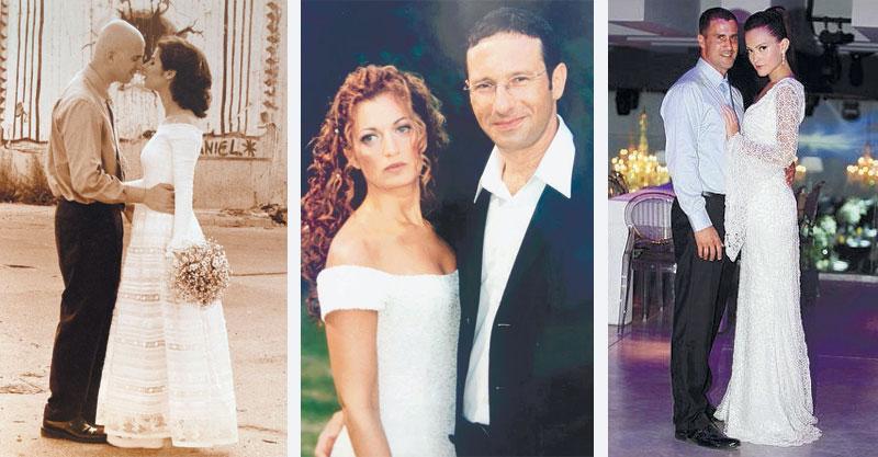 ויקי מקריאנס ואמיר שלח, שי לי ליפא ורפאל, פזית וירון מינוקבסקי ביום חתונתם