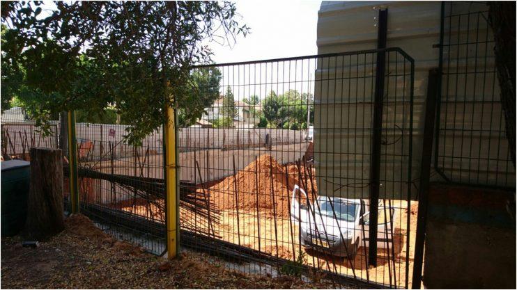 אתר הבניה בסמוך לגן מרגנית