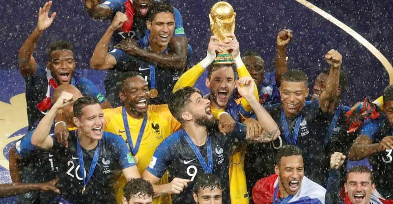 צרפת הזוכה במונדיאל 2018 צילום רויטרס
