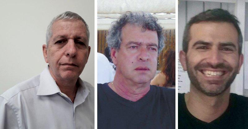מימין: ירון כרמי, חן רון,עקיבא איסרליש. קרדיט: חן רון, פרטי