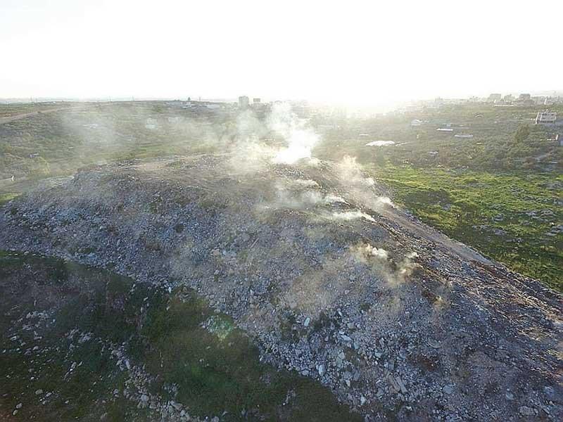 שריפת פסולת בקלקיליה. צילום עמותת אזרחים למען אוויר נקי
