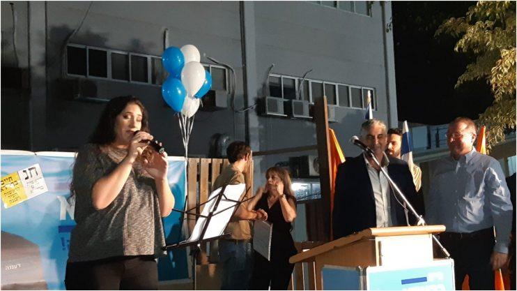 הזמרת רוני שקלים בחגיגות הניצחון של חיים ברוידא