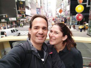 """שרון גורמן ז""""ל לצד בעלה, זאב. צילום באדיבות המשפחה"""