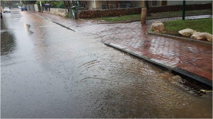 אחרי הגשם, רחוב אבן גבירול. צילום רונן מקובר
