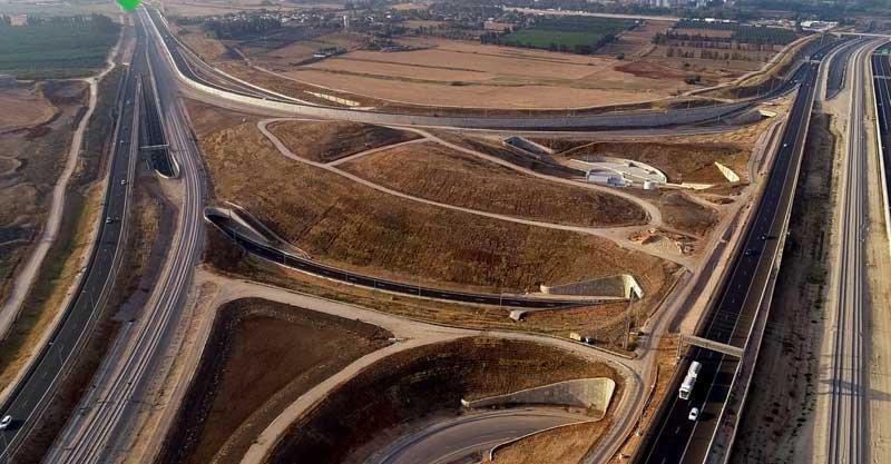 חיבור כביש 531 וכביש 20 צילום נתיבי ישראל