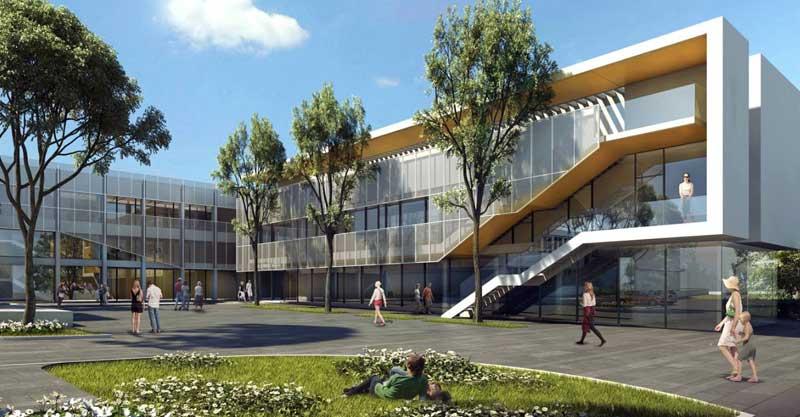 הדמיית המרכז לצעירים ברעננה. צילום: אדריכל אלון זהר, בן ארי אדריכלים