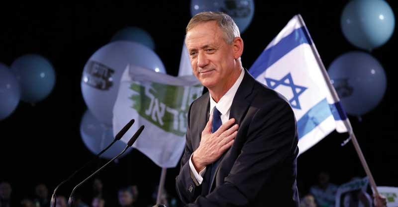 בני גנץ משיק את מפלגת חוסן לישראל.צילום תומר אפלבאום