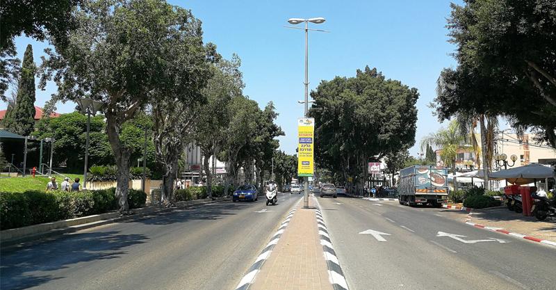 רחוב אחוזה. צילום עזרא לוי