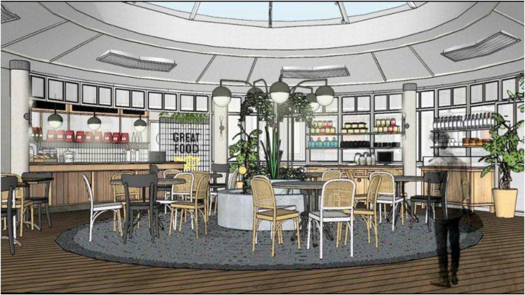 הדמיה של בית הקפה מנדרין פארק רעננה. קרדיט: האדירכלים איציק, פיי ובתאל מסטודיו DEHAB AT WORK