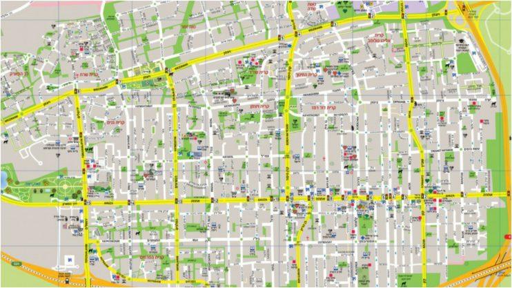 מפת רעננה. באדיבות עיריית רעננה