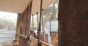 הדירות שנפגעו ברחוב מכבי 20. צילום שמעון בוקובזה