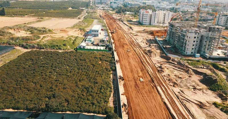 כביש עוקף צפוני. צילום עיריית רעננה