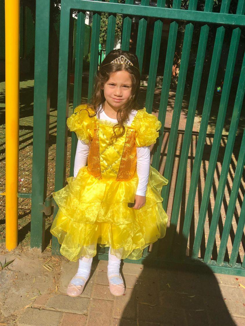 מאיה פוירמן מגן יקינטון, התחפשה לבל הנסיכה