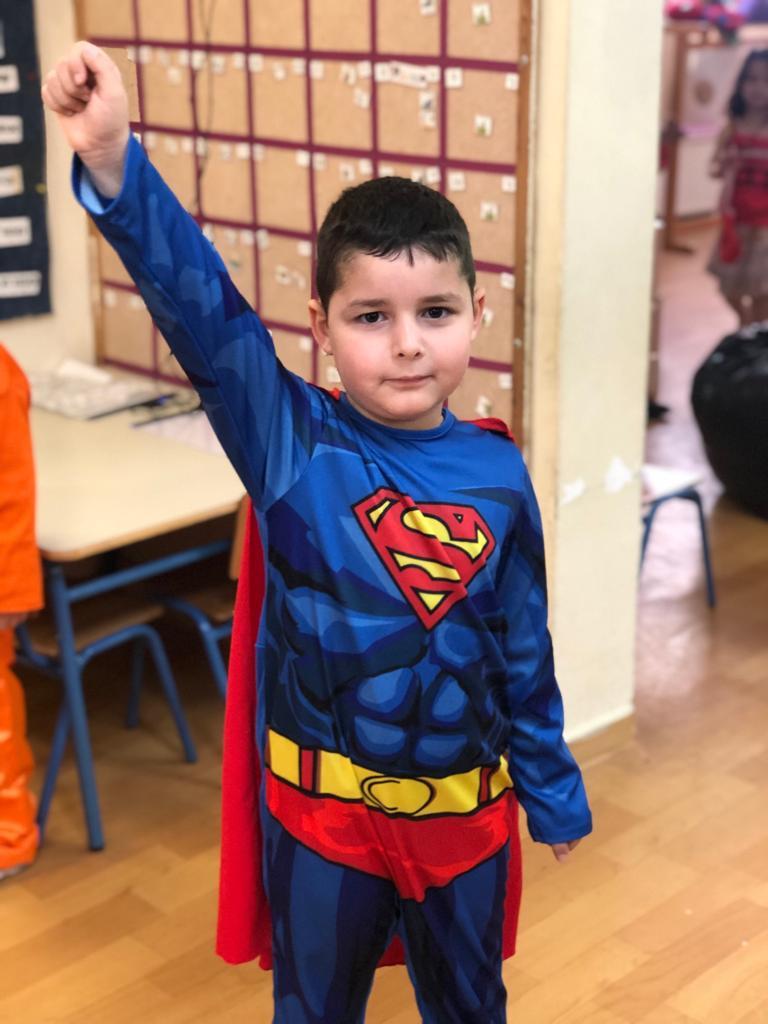 בר נהון מגן דקלים, התחפש לסופרמן