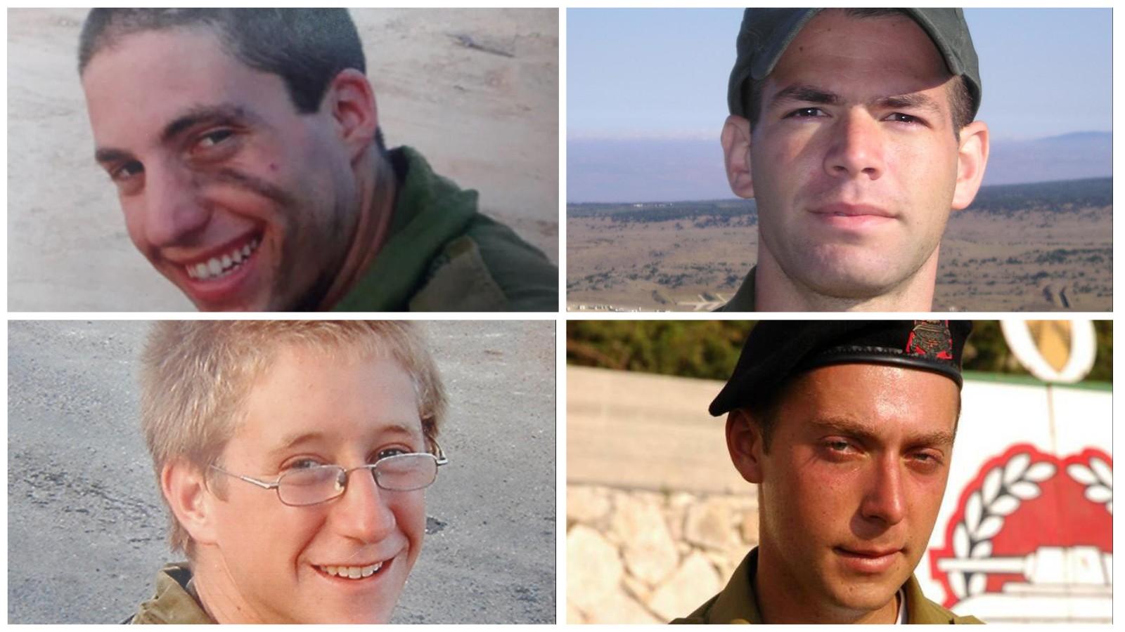"""אדם גורן, אורי גרוסמן, סשה בונימוביץ ובניה ריין ז""""ל. צילומים באדיבות המשפחה"""