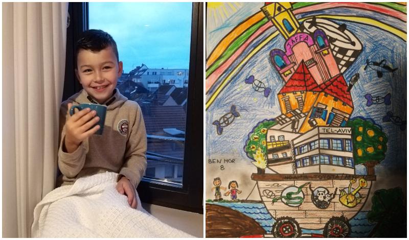 מימין: הציור הזוכה של בן מור, בן מור. קרדיט: פרטי
