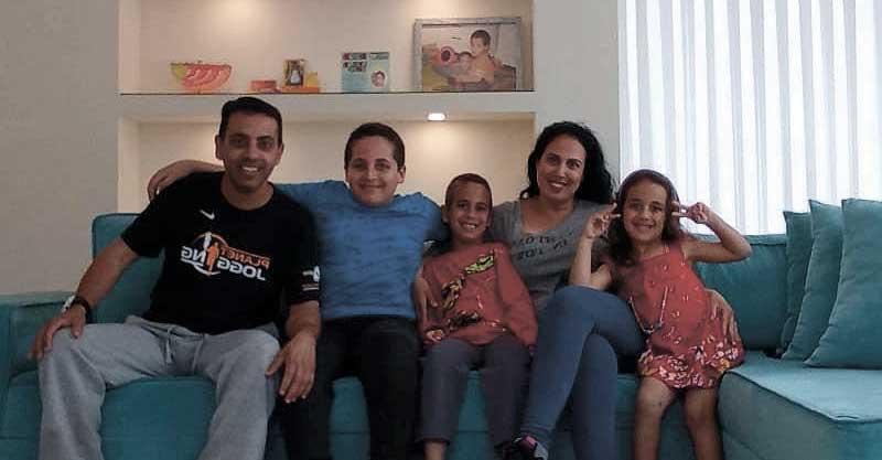 משפחת אברהם. צילום פרטי