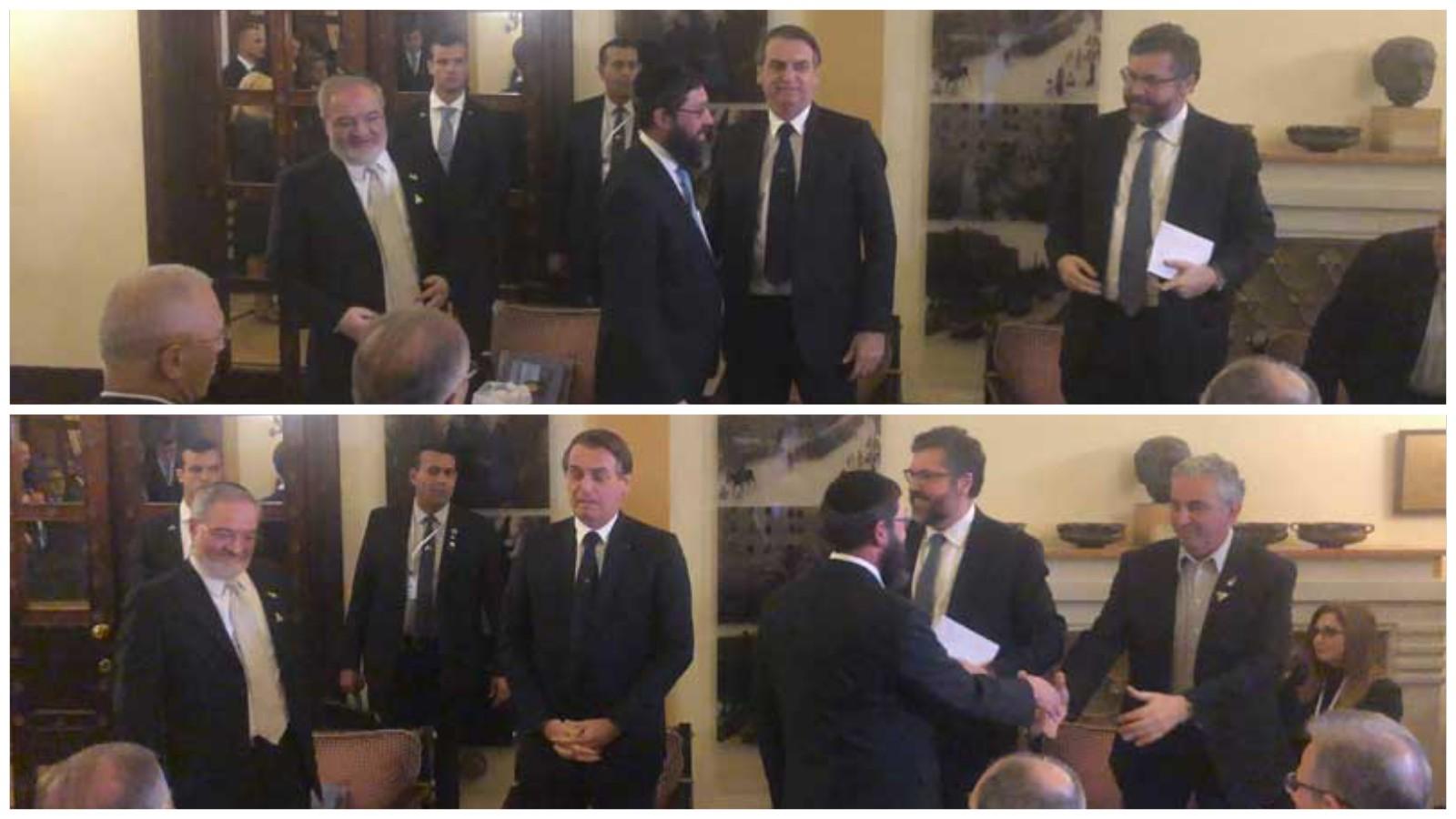 נשיא ברזיל עם נציגי קהילת יהודי ברזיל וראש עיריית רעננה, חיים ברוידא. קרדיט: אנדרה נחמד