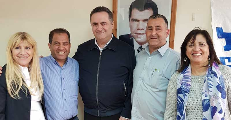 שר התחבורה ישראל כץ, חבר מועצת העיר אילן כהן וחברי סניף הליכוד