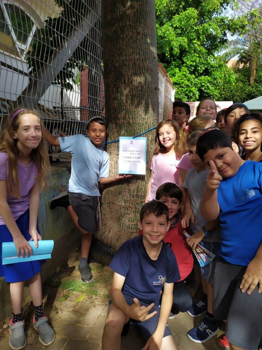 """הילדים בפעילויות במסגרת """"יום ללא ילקוט"""" בבית הספר ממ""""ד ביל""""ו. קרדיט: מיקי אדלר"""