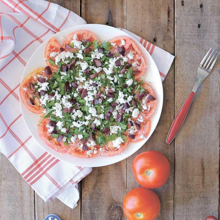 אוכל - קרפציו עגבניות צילום טליה הדר