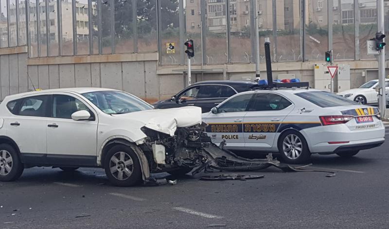 זירת התאונה במחלף ירושלים. קרדיט: דוד חזרתי