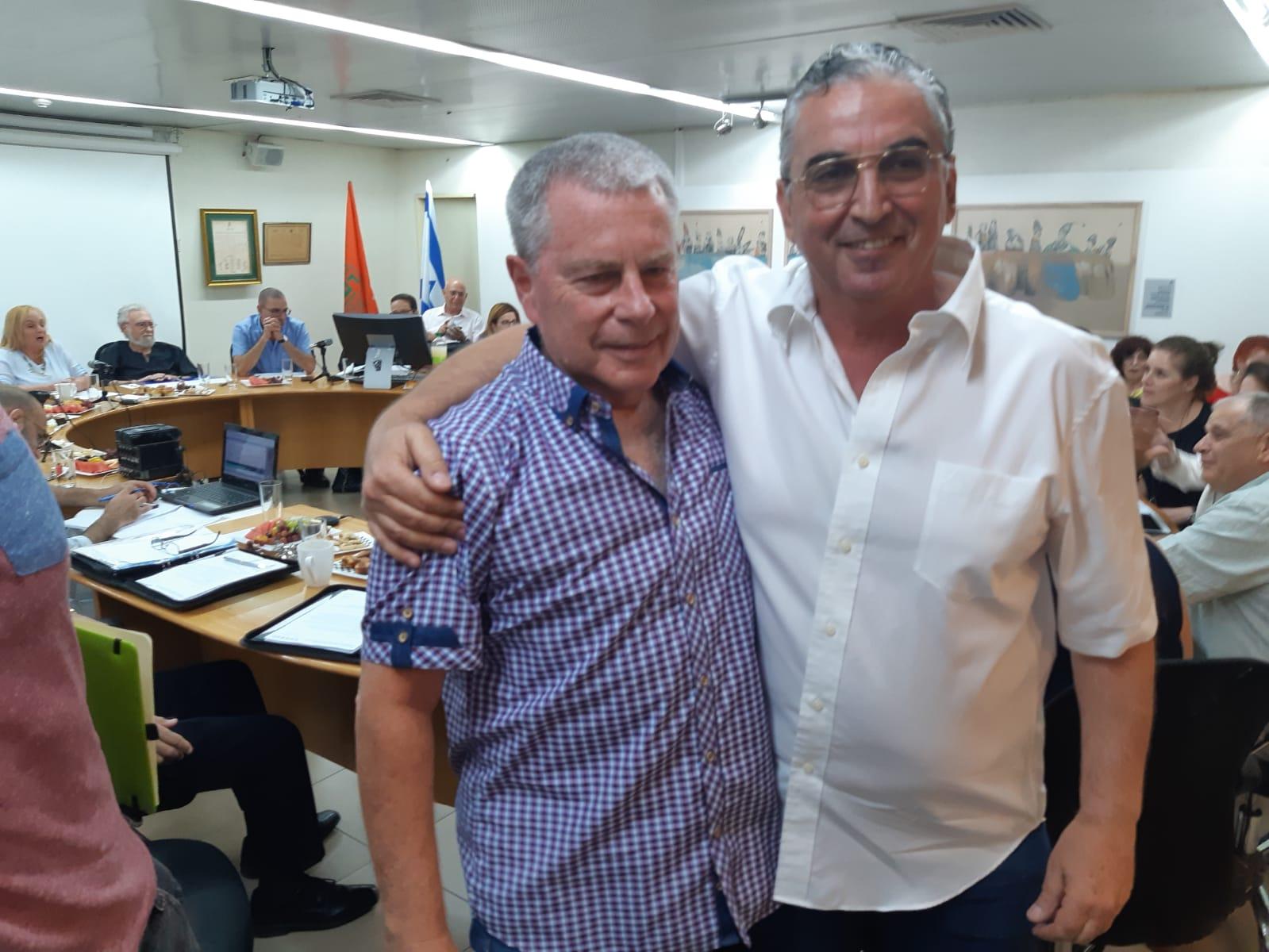 ודמני וברוידא לאחר אישור מינויו של ודמני למשנה לראש העיר
