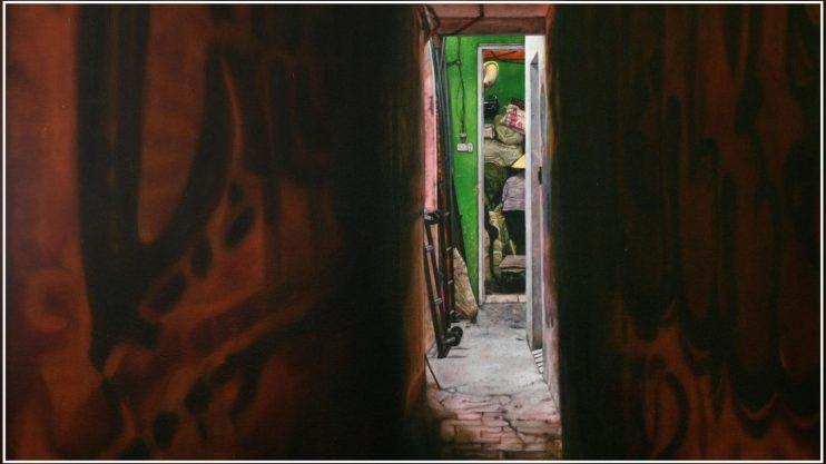 """""""האור בקצה הסמטה בהאנוי"""". צייר: עופר לינביץ"""