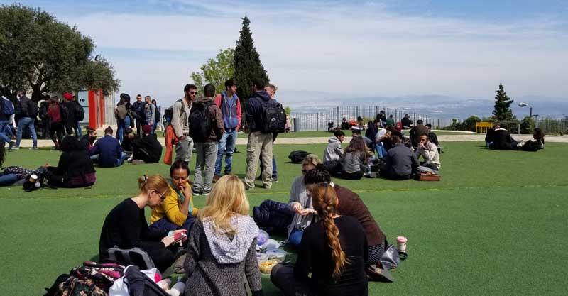 סטודנטים אוניברסיטת חיפה צילום: Dina Kraft