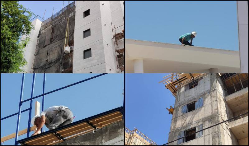 אתרי בנייה שנבדקו בביקורת הארצית. קרדיט: משרד העבודה והרווחה