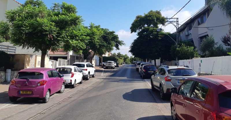 רחוב מוצקין רעננה