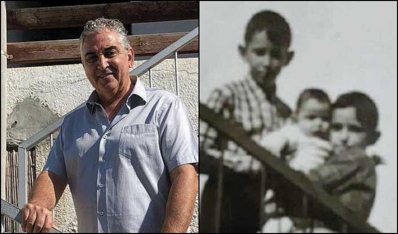 מימין: ראש עיריית רעננה, חיים ברוידא (כתינוק במרכז) לצד אחיו ואחותו, במקום בו היה בית הוריו. קרדיט פרטי. ברוידא במקום בו היה בית הוריו. קרדיט דוברות העירייה
