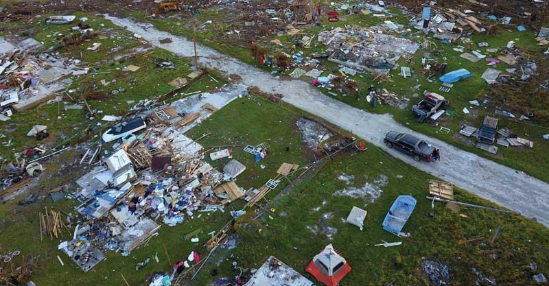 הסופה דוריאן באיי הבהמאס צילום AP